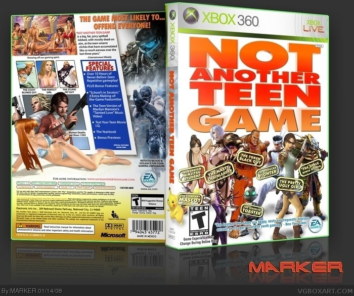 Not Another Teen Game Xbox 360 Box Art Cover by MARKER