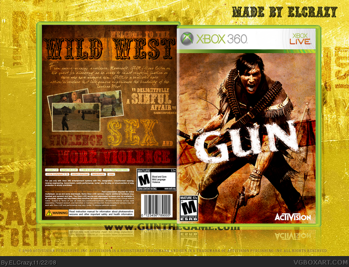 Gun box art cover