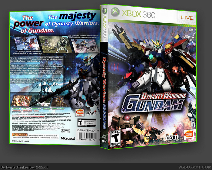 Dynasty Warriors: Gundam box art cover