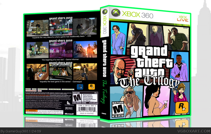 Grand Theft Auto: The Trilogy box art cover
