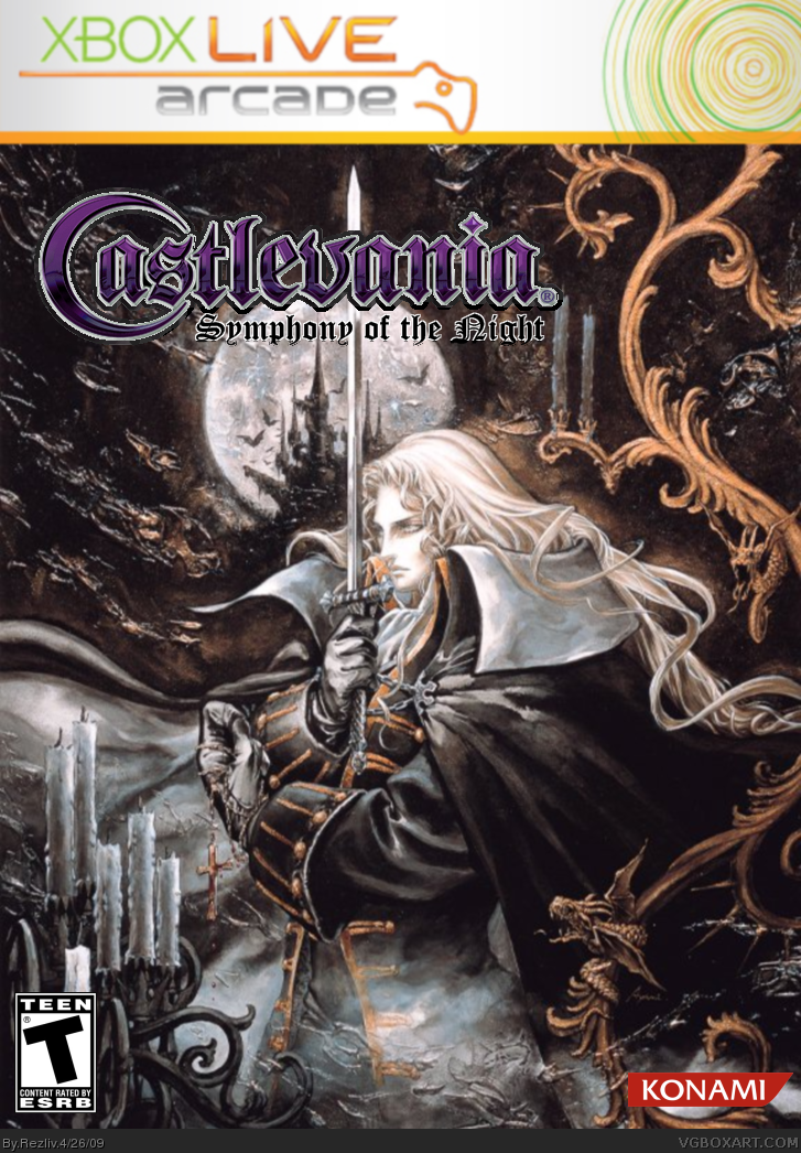 Castlevania Symphony of the Night box cover