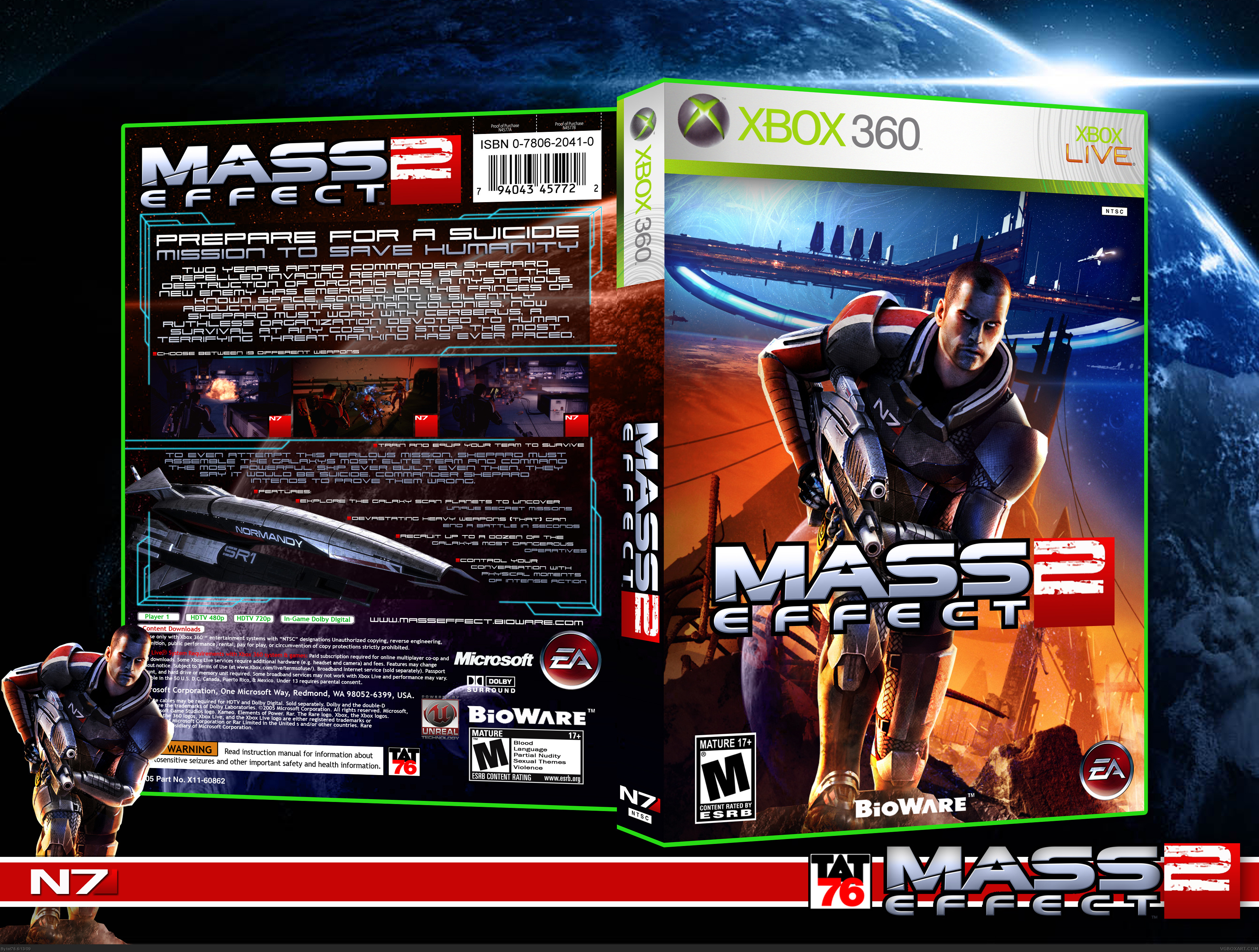 Mass Effect 2 box cover