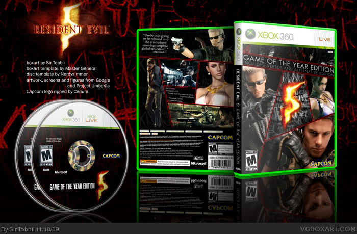 Resident Evil 5: Game of the Year Edition box art cover