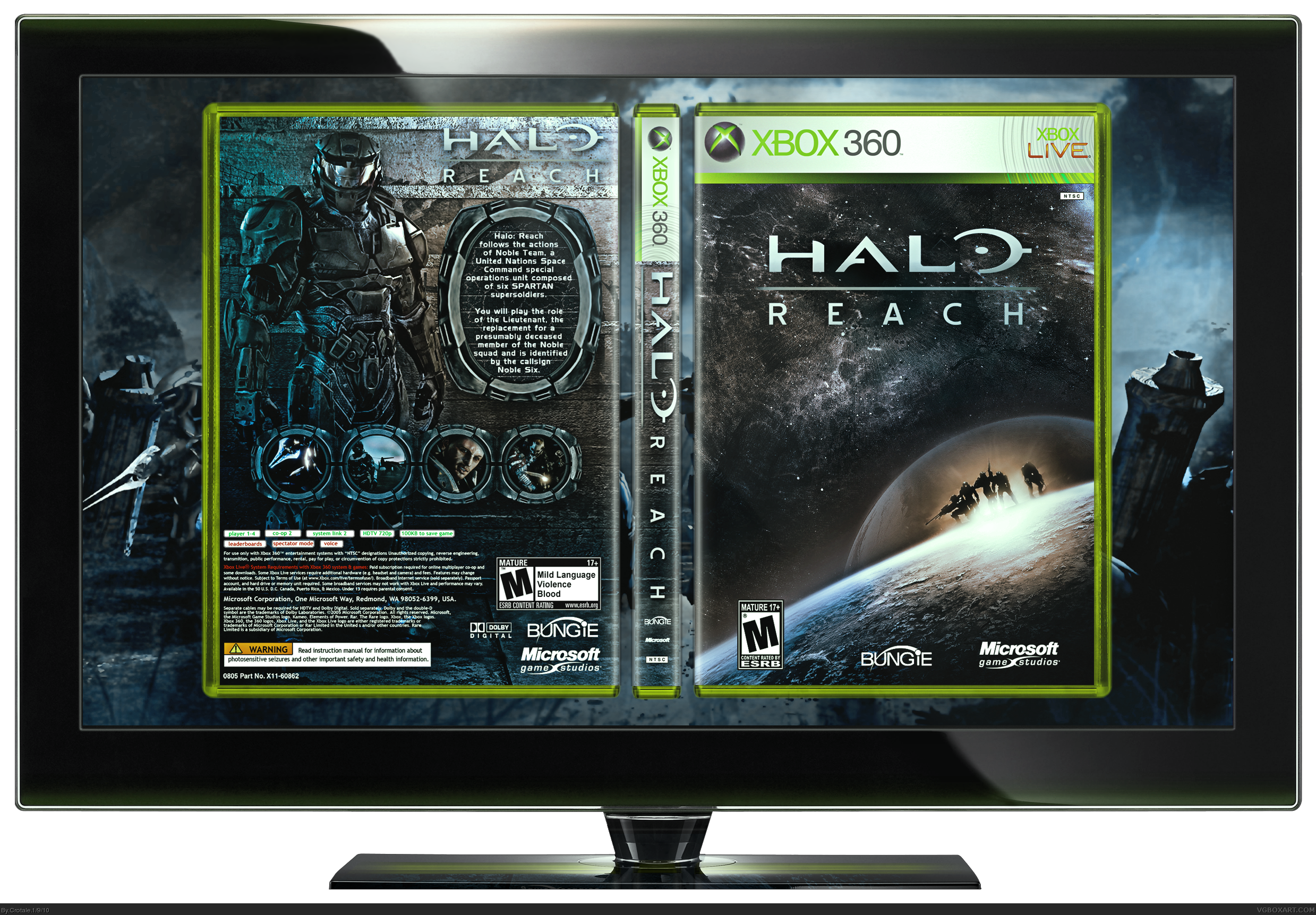 Halo: Reach box cover