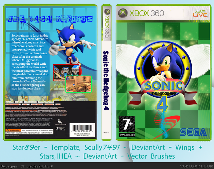 sonic the hedgehog 4 box art cover