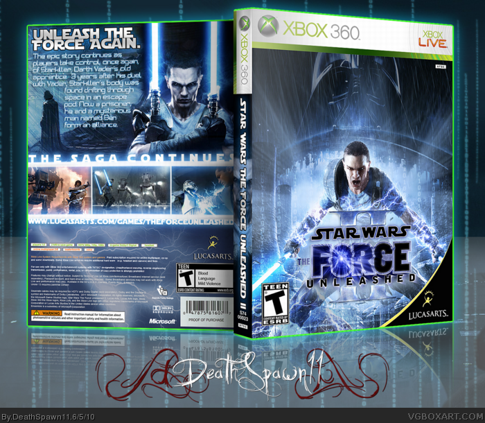 Star Wars: The Force Unleashed II box art cover