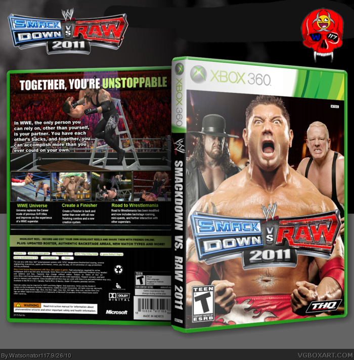 WWE Smackdown Vs Raw 2011 box art cover