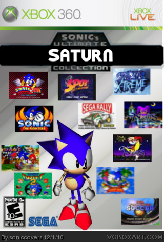 Sonic's Ultimate Saturn Collection box cover