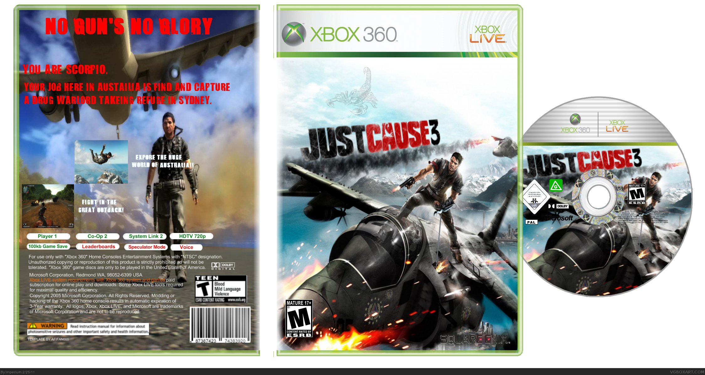 Just cause 3 box cover