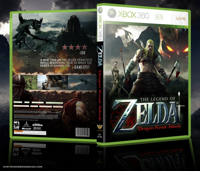 Brutal Legend of Zelda box art cover