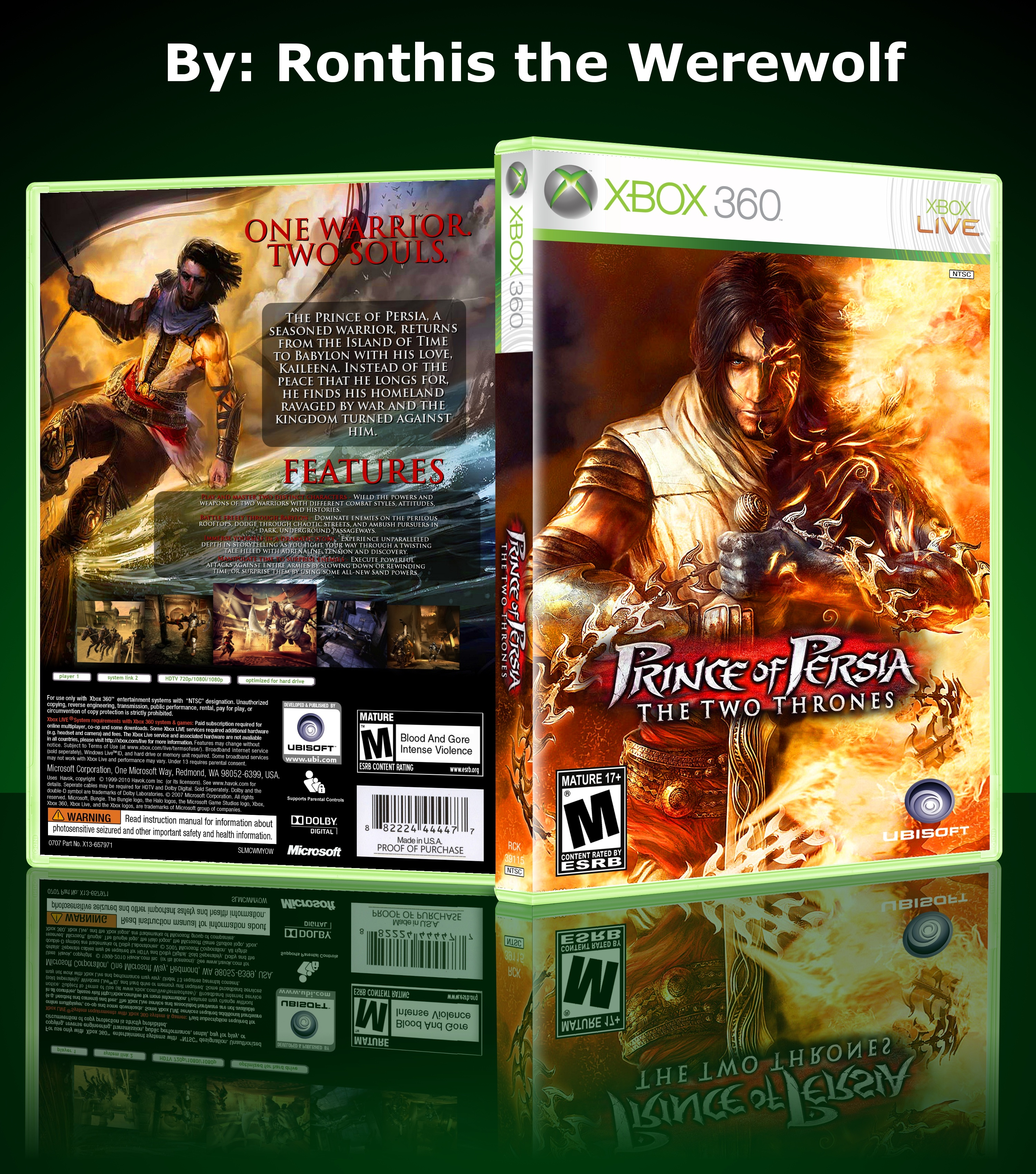 Prince of Persia: The Two Thrones box cover