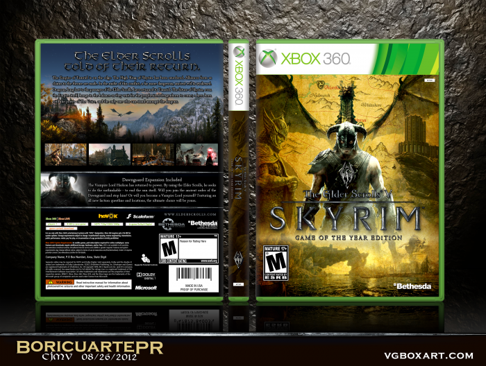 The Elder Scrolls V: Skyrim GOTY Edition box art cover