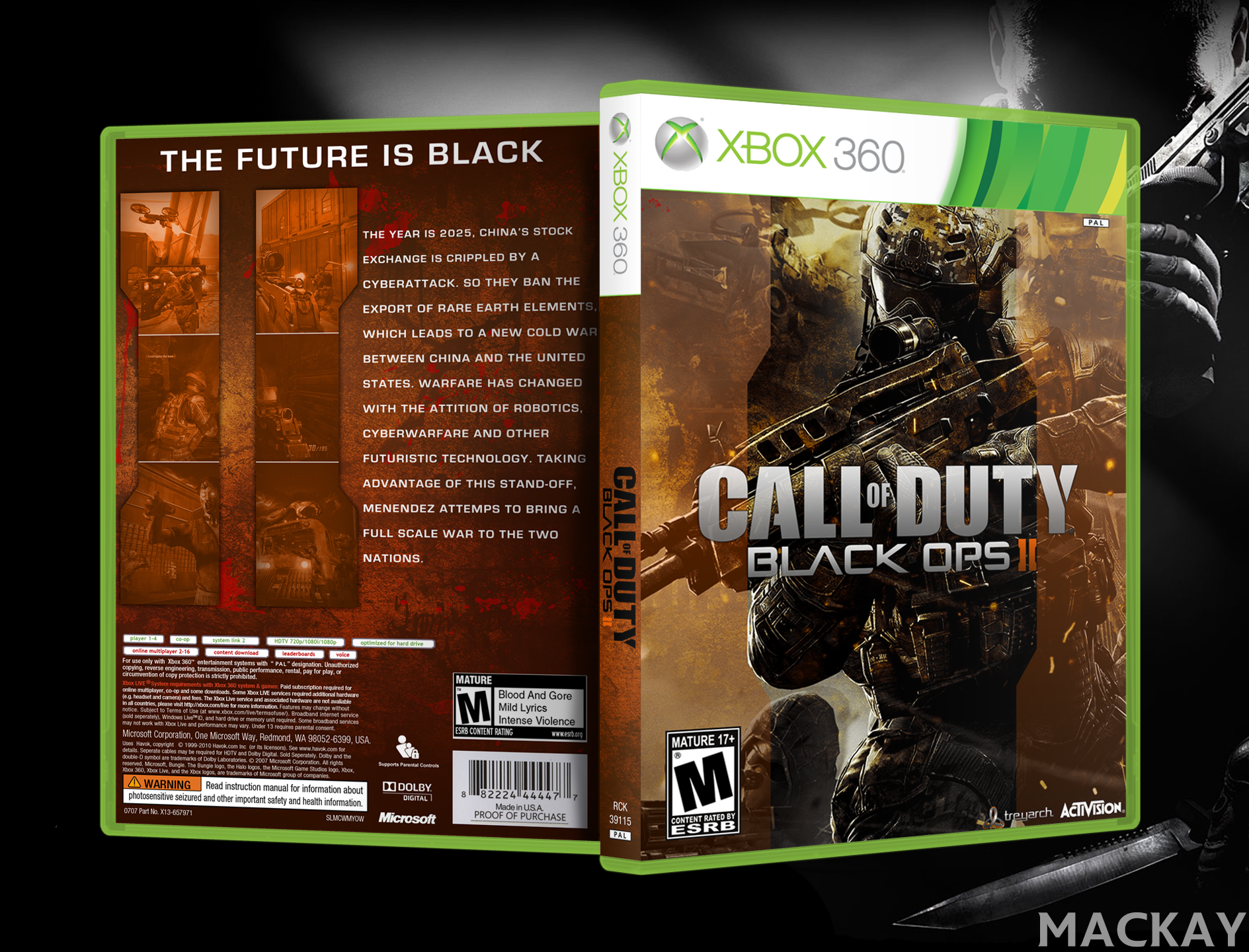 Call Of Duty Black Ops 2 box cover