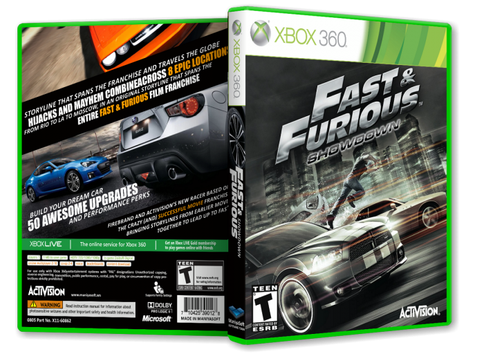 Fast and Furious: Showdown box art cover