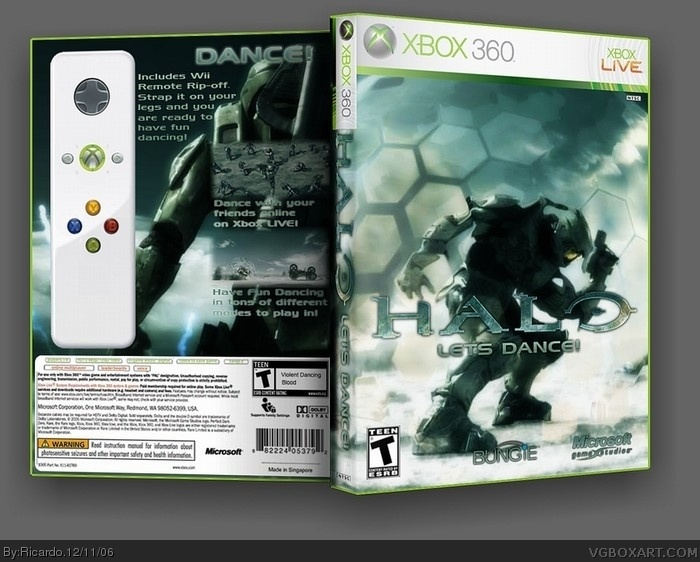 Halo: Lets Dance! box art cover