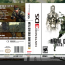 Metal Gear Solid: Snake Eater 3D Box Art Cover