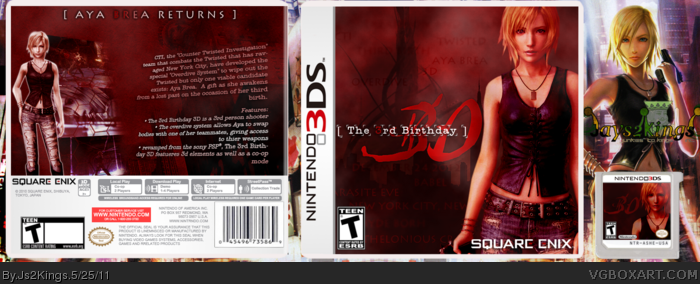 The 3rd Birthday 3D box art cover