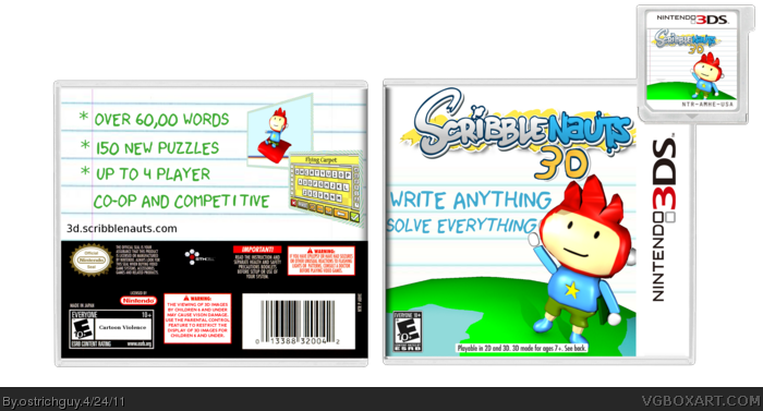 Scribblenauts 3D box art cover