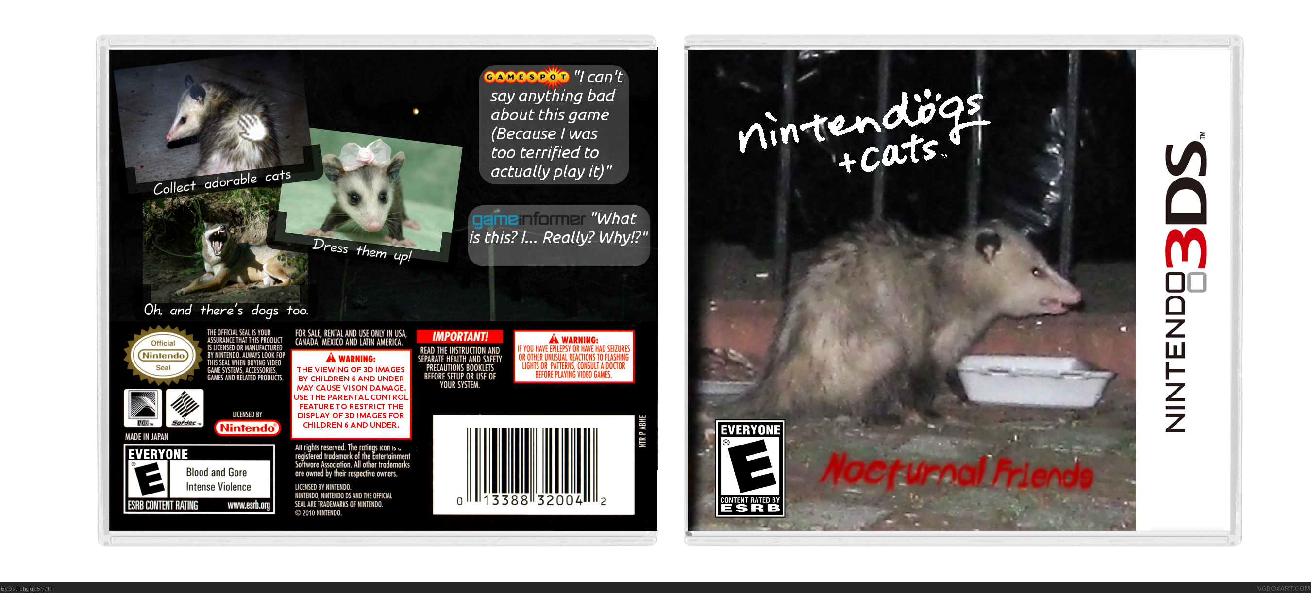 Nintendogs + Cats box cover