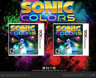 sonic colors 3D box art cover