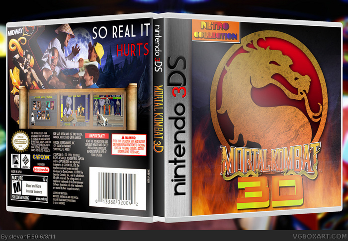 Mortal Kombat 3DS box art cover