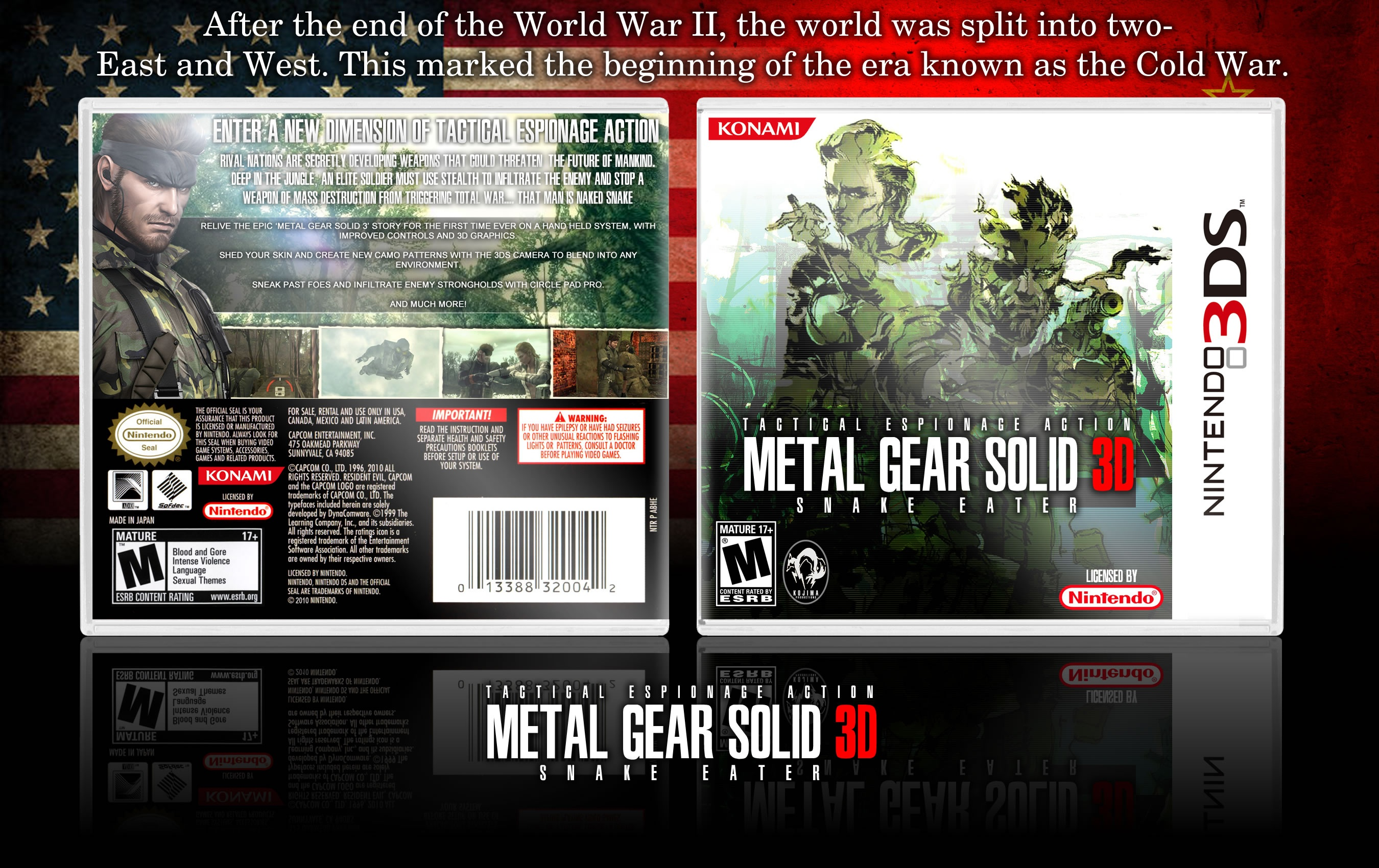 Metal Gear Solid 3D: Snake Eater box cover