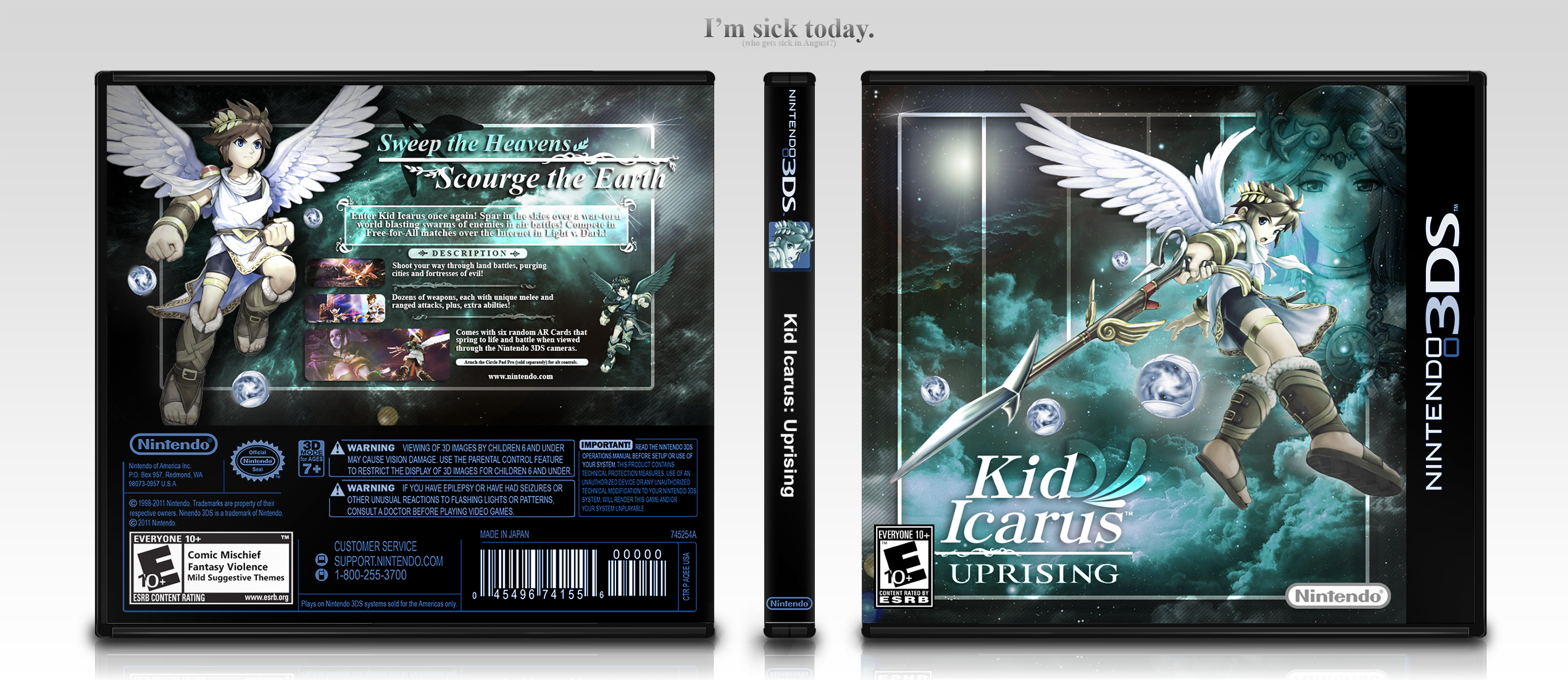 Kid Icarus: Uprising box cover