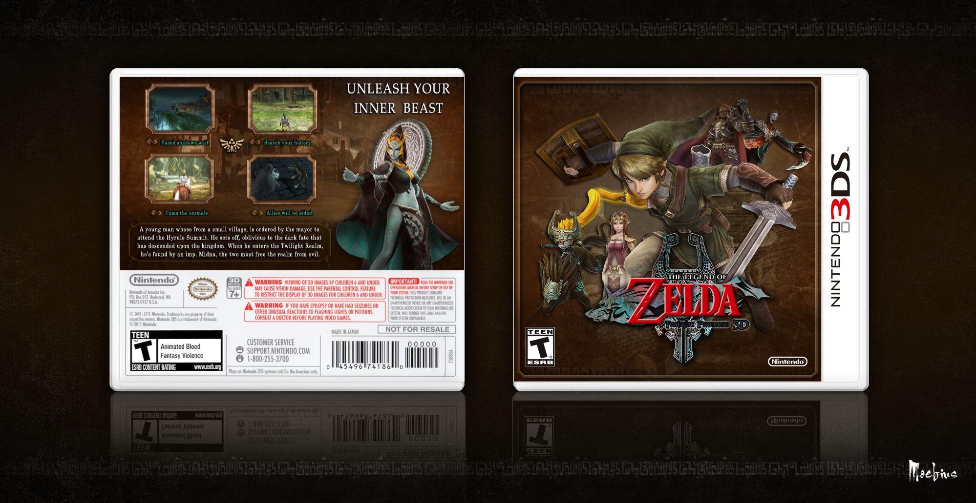 The Legend of Zelda: Twilight Princess 3D box cover