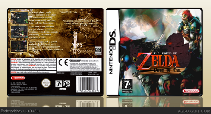 The Legend of Zelda: Dawn of Evil box art cover