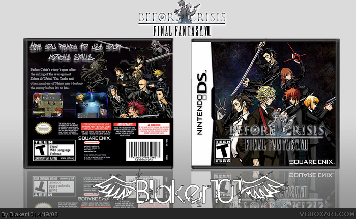 Before Crisis: Final Fantasy VII box art cover