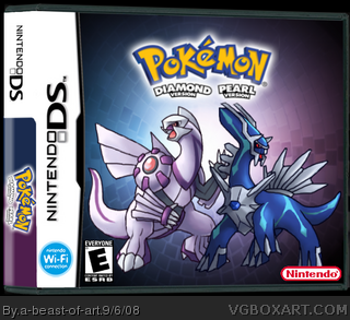 Pokemon Diamond Version and Pokemon Pearl Version box cover