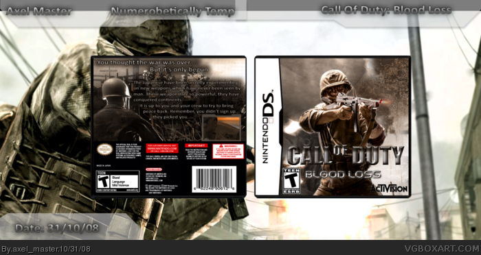 Call Of Duty: Blood Loss box art cover