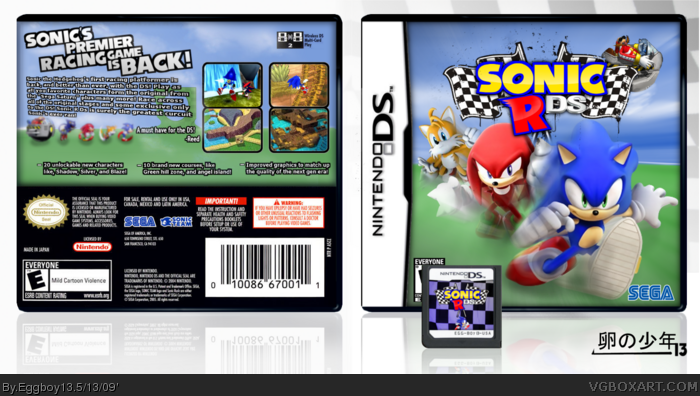 Sonic R: DS box art cover