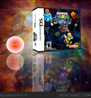 Super Mario Galaxy DS box art cover