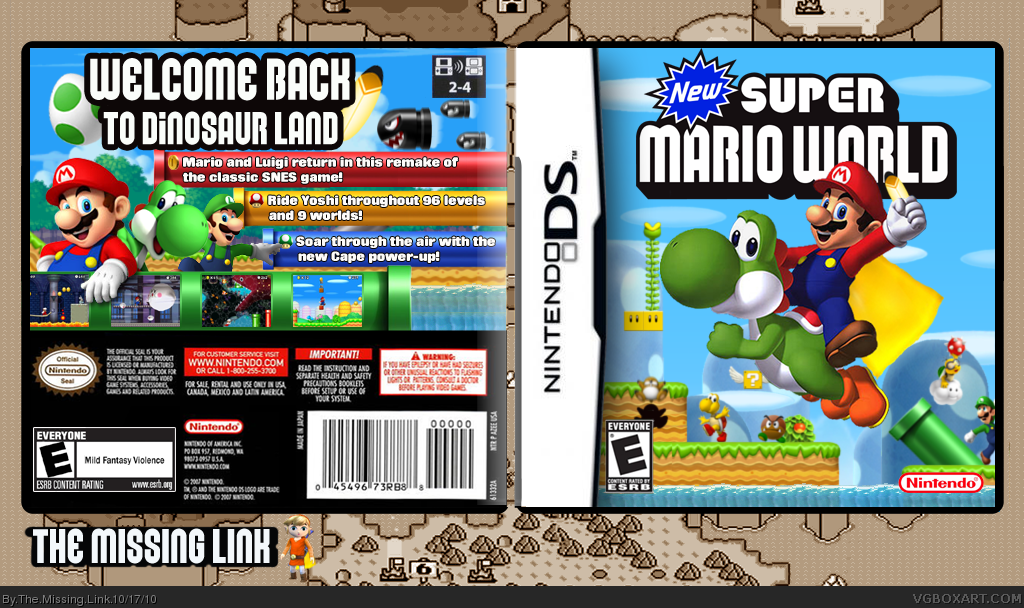 New  Super Mario world box cover