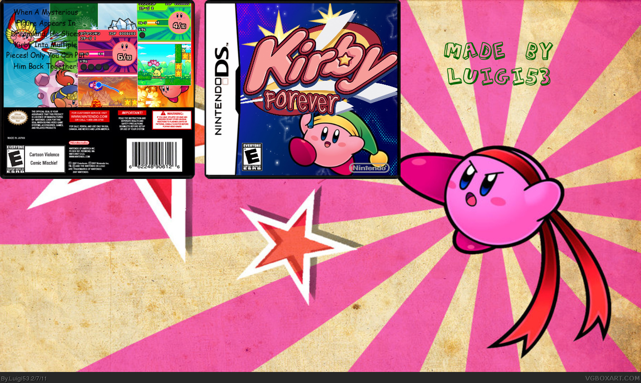 Kirby Forever box cover