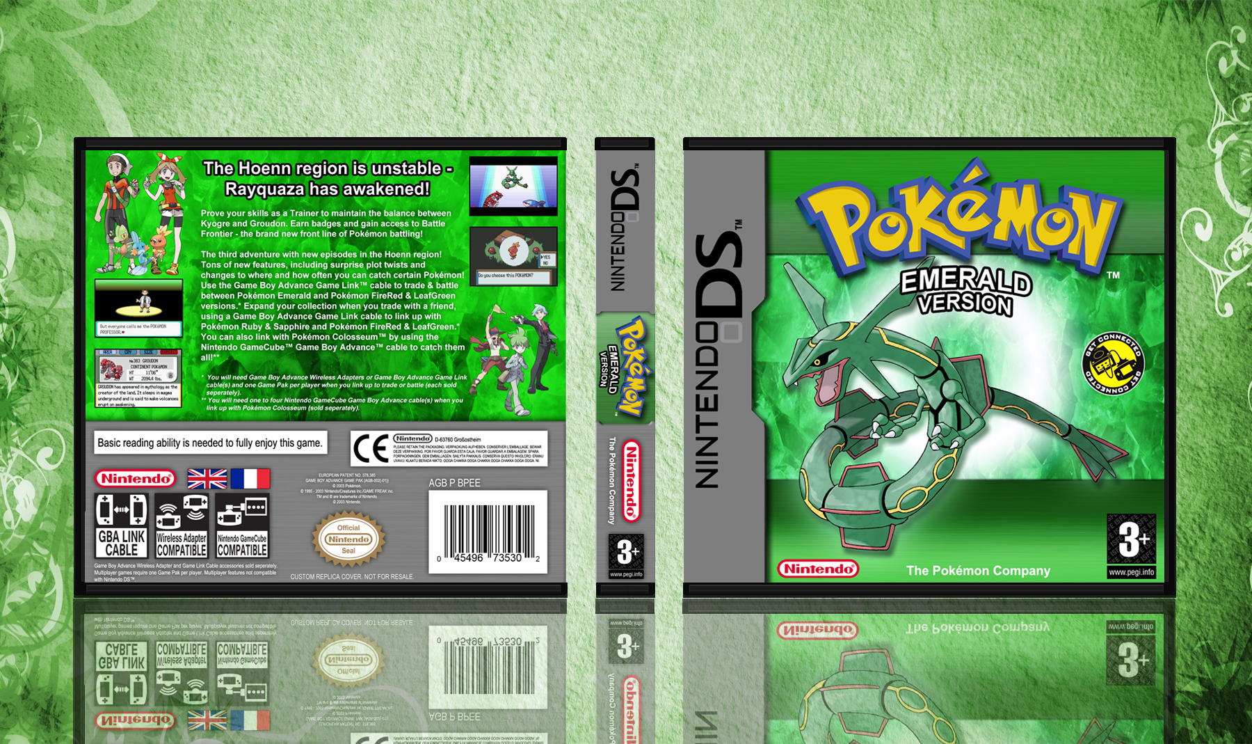 Pokemon Emerald Version box cover