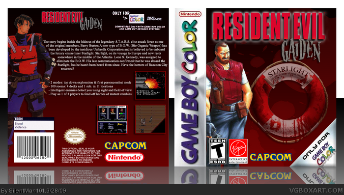 Resident Evil: Gaiden box art cover
