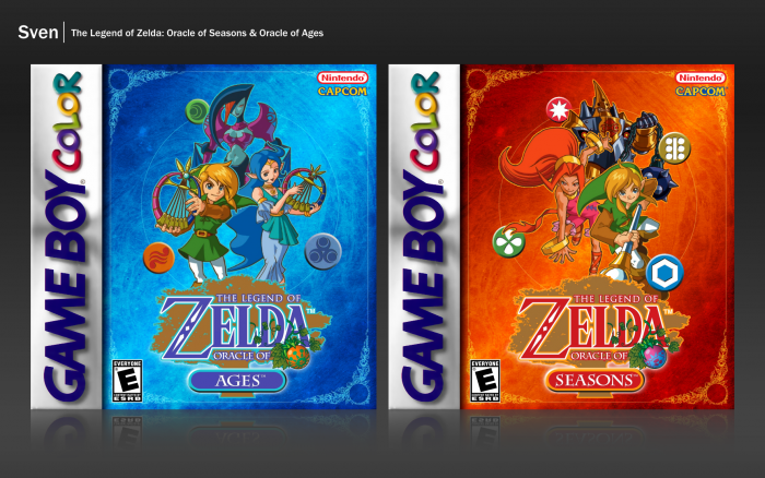 The Legend of Zelda: Oracle of Seasons/Ages box art cover