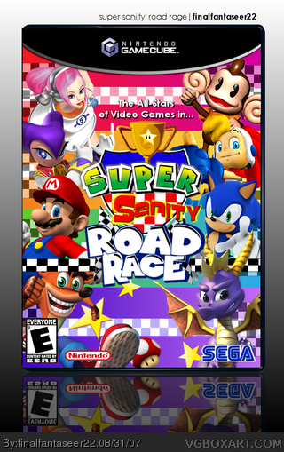 Super Sanity Road Rage box cover