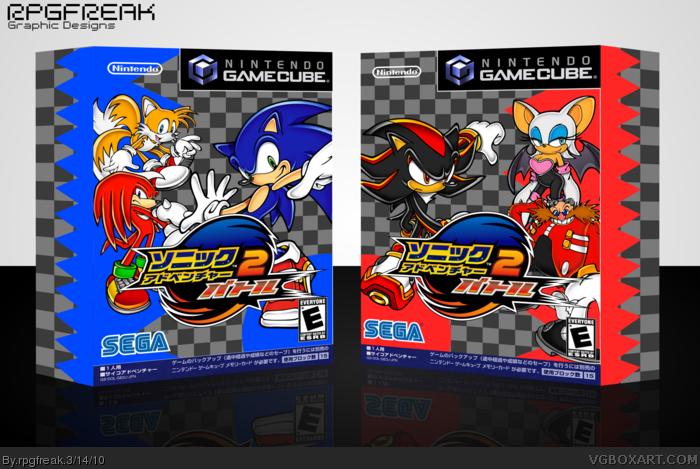 Sonic Adventure 2 Battle Gamecube Box Art Cover By Rpgfreak