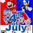 Mario and Sonic Celebrate July 4th Box Art Cover