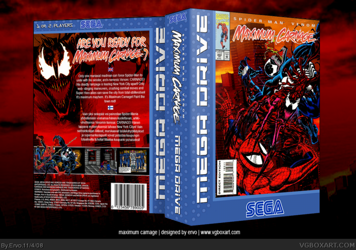 Spider-Man and Venom: Maximum Carnage box art cover