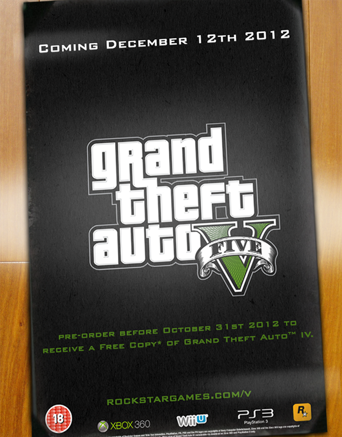 Grand Theft Auto V Poster box cover