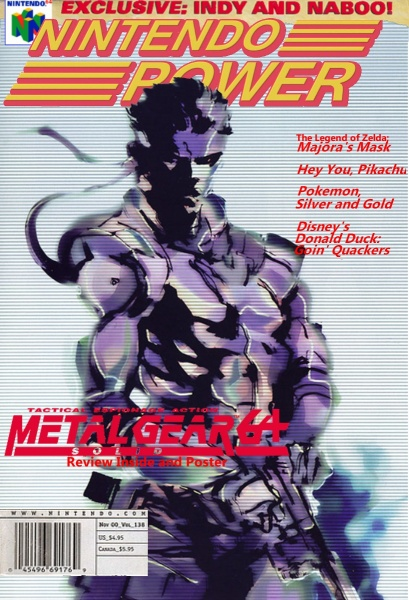 Nintendo Power: Metal Gear Solid 64, Cover box art cover