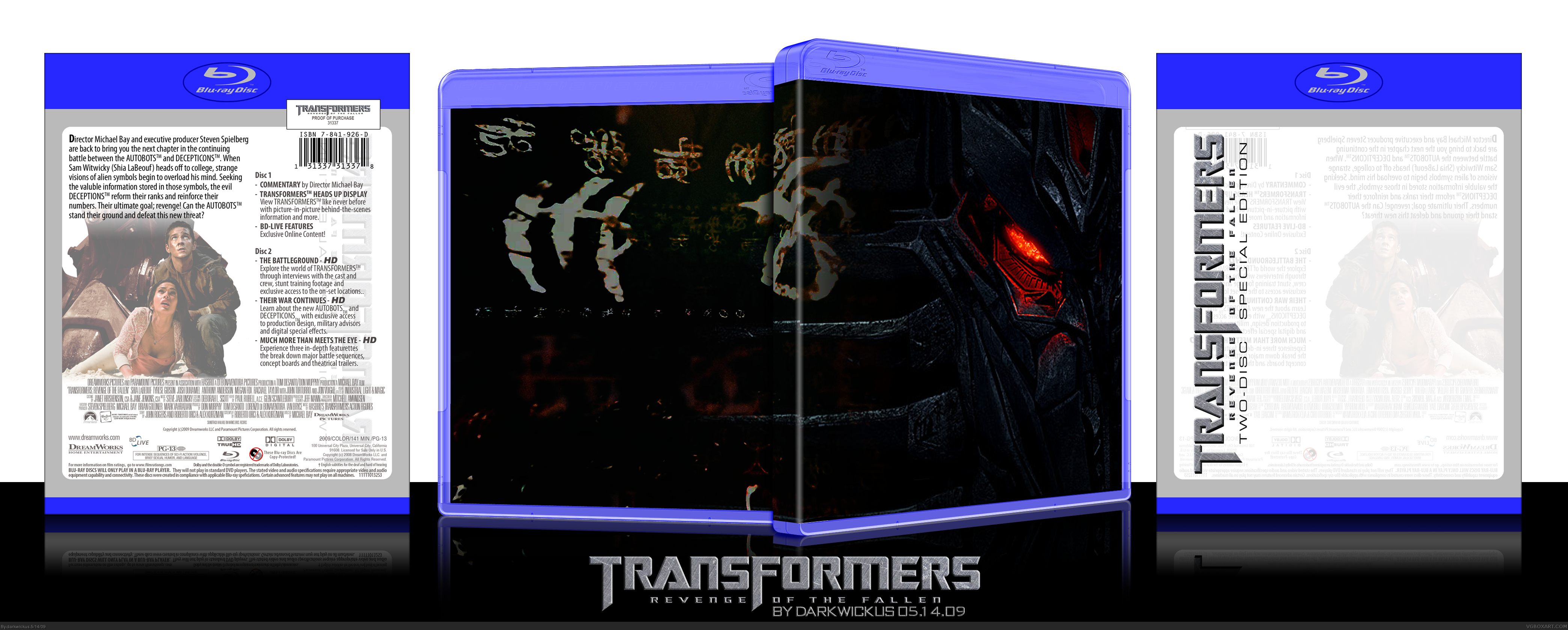 Transformers: Revenge of the Fallen box cover