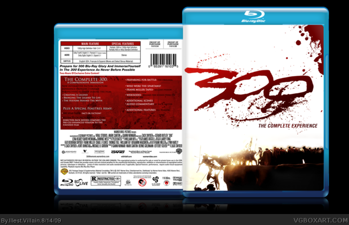 300 box art cover