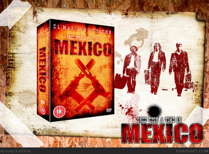Once upon a time in Mexico box art cover