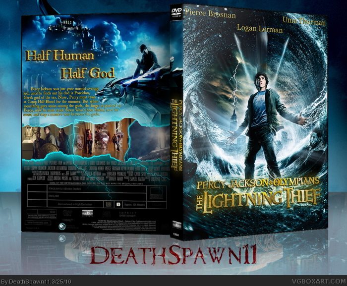 Percy Jackson & The Olympians: The Lightning Thief box art cover