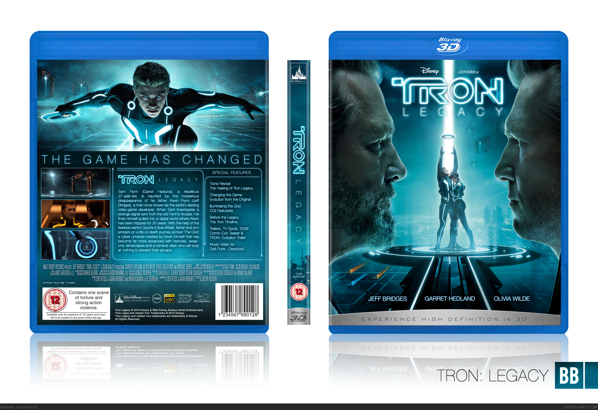 Tron Legacy box cover